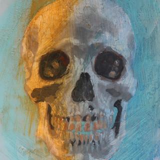 Skull - Oil on vellum 2018