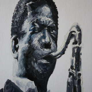 Coltrane - Oil on canvas 16x20 - 2005