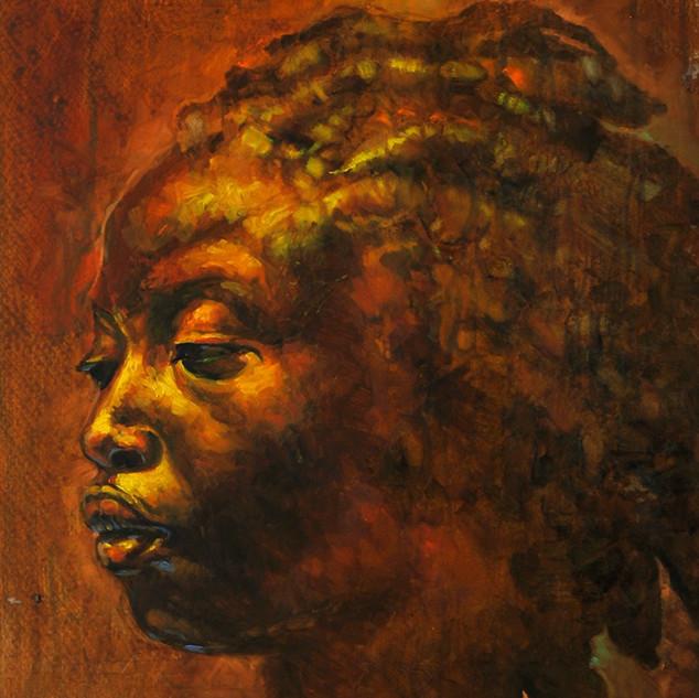Black Venus - 18x20 Oil on canvas 2009.j