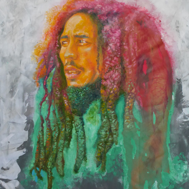 Uprising - 18x24 Oil & Acrylic on satin