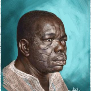 African Scarification Man - Rebelle