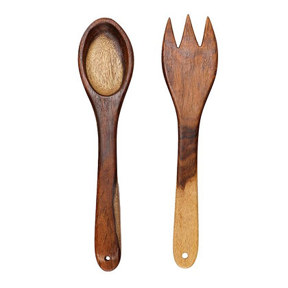 Sarsou Wood Spoon Set - 2 Pcs