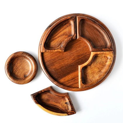 wooden nut plate