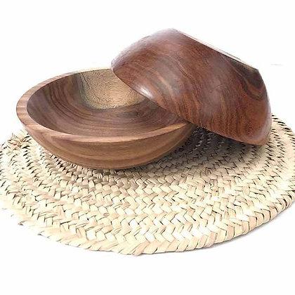 set of 2 wood plates