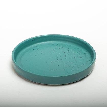 Pottery ceramic pizza plate