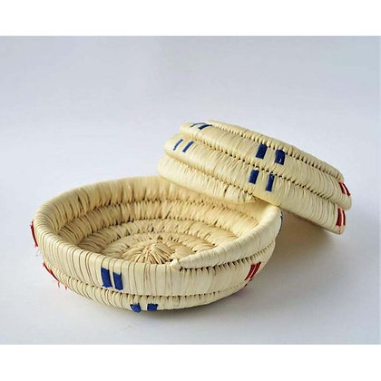 Palm Straw Nuts Basket - 20 Cm