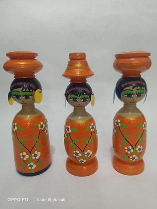 Egypt Folkloric wood doll
