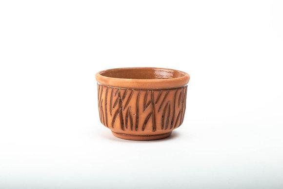 Potteryطبق زبادي او سلطات فخار