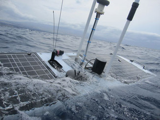 Wave Glider tracking salmon, monitoring ocean parameters