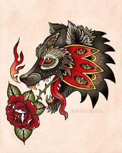 mystic wolf tat sm