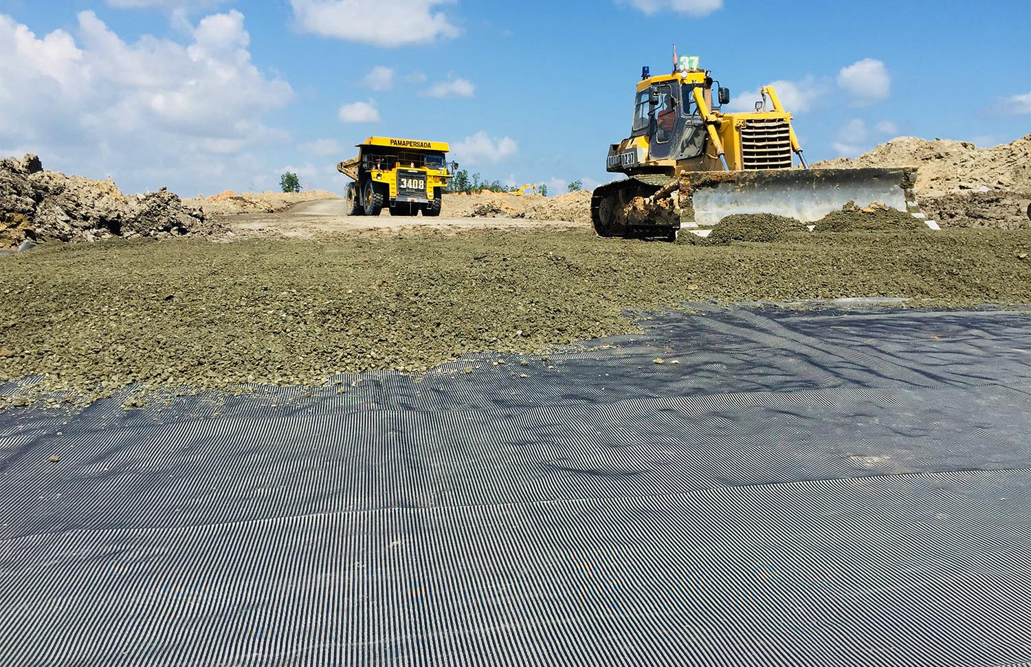 Stabilisasi Subgrade Site Arem Access Road Satui