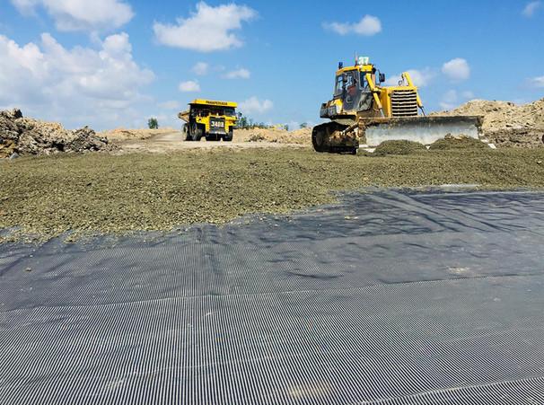 Stabilisasi Subgrade Site Arem AccessRoad Satui