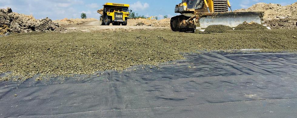 Stabilisasi Subgrade Site Arem Access Road Satui