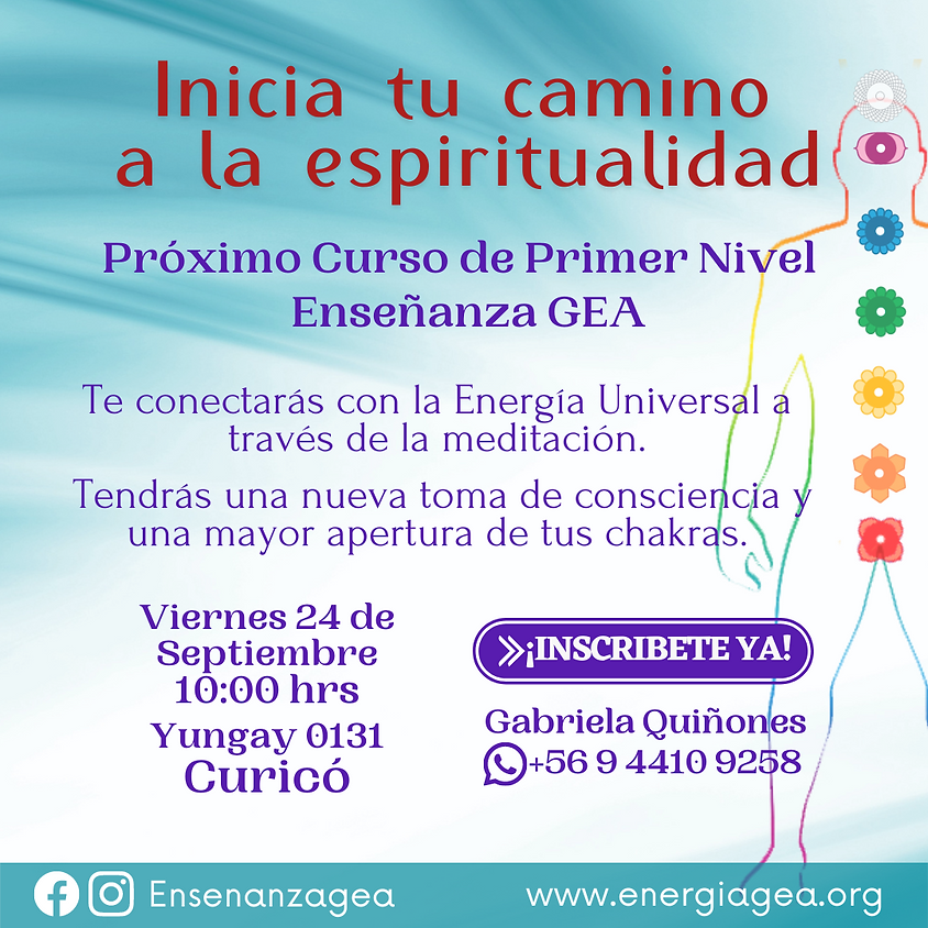 Inicia tu camino  a la espiritualidad, Curicó
