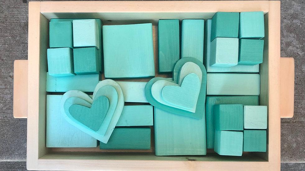 Pieces of the Ocean Ombré Block Set