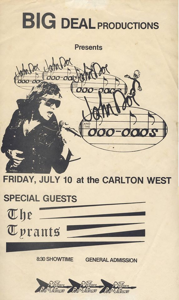John Doe & Tyrants at Carlton West