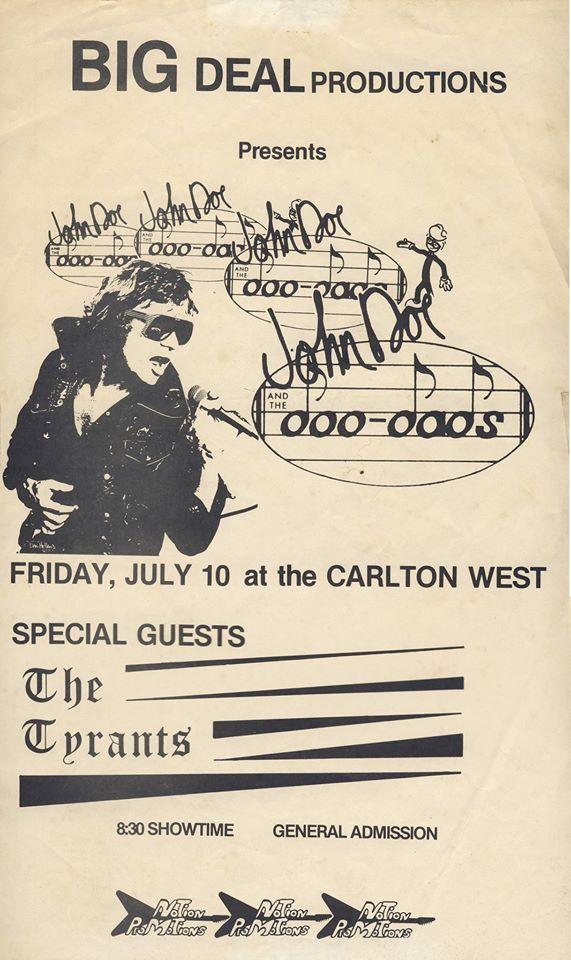 John Doe & Tyrants at Carlton West