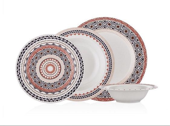 Ethnic 24 Parça Porselen Yemek Takımı