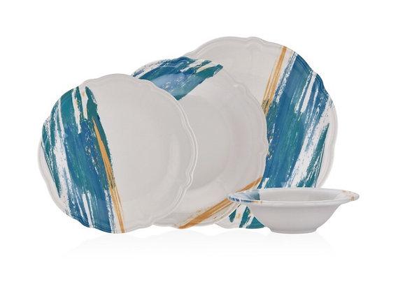 KRM BlueWhite 24 Parça Yemek Takımı