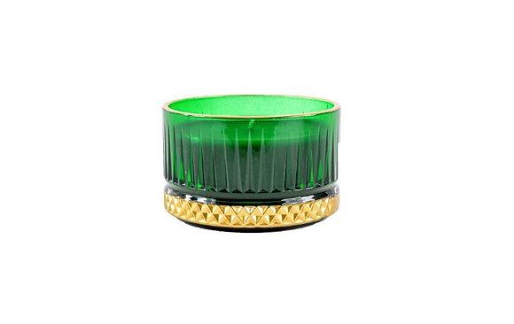 Kreamaison Yıldız Yeşil Gold Mum 9x5,5cm