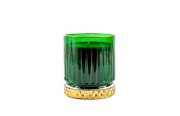 Kreamaison Yıldız Yeşil Gold Mum 7,5x8,5cm