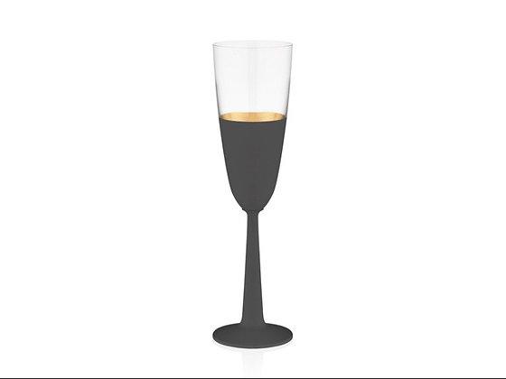 Vision Black 6'lı Şampanya Kadehi