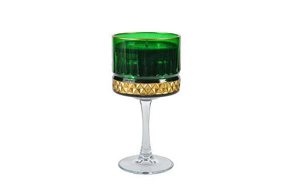 Kreamaison Yıldız Yeşil Gold Mum 10x20