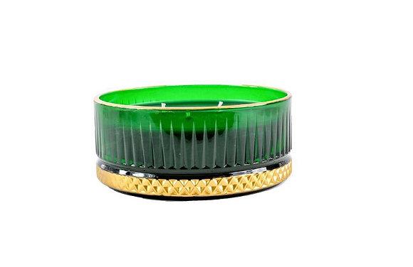 Kreamaison Yıldız Yeşil Gold Mum 13x5,5cm