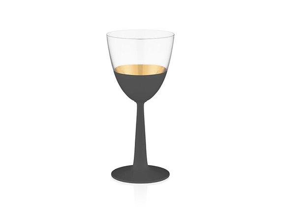 Vision Black 6'lı Beyaz Şarap Kadehi