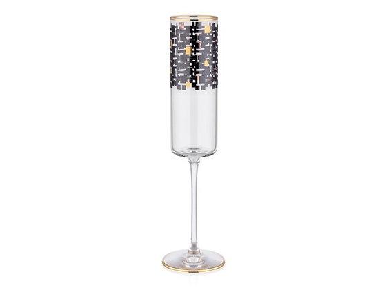 Monochrome 6 Parça Flut Şampanya Kadehi