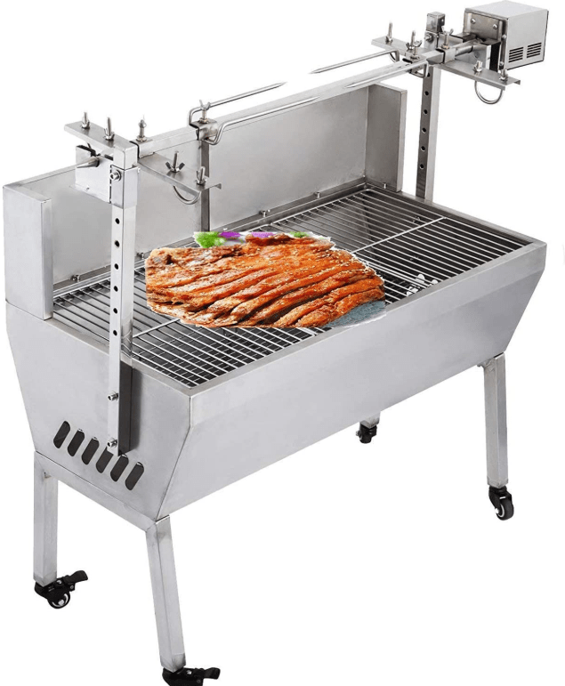 Cooking and Rotisserie with the VEVOR 132-pound/60kg Charcoal Rotisserie Grill