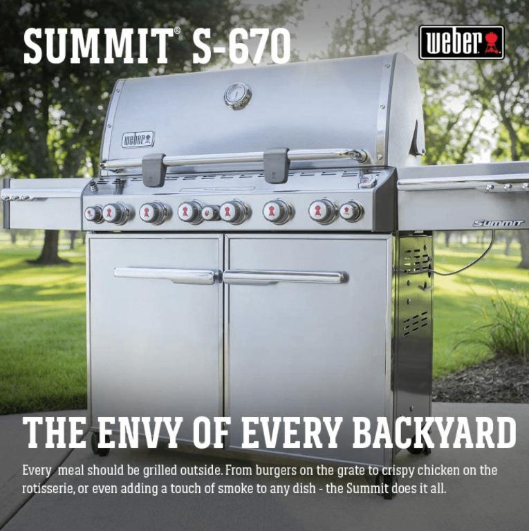 Weber Summit S-670 LP Gas Grill