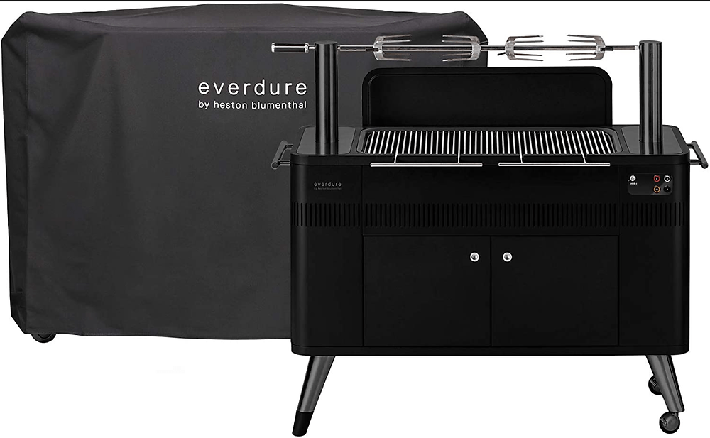 Parts and Accessories of the Everdure HUB II 54-inch Charcoal Rotisserie Grill