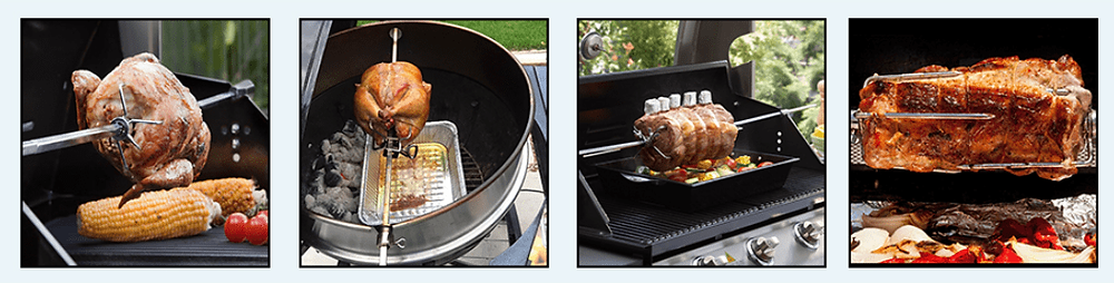 Rotisserie Cooking with the onlyfire 6021 Universal Grills Rotisserie Kit
