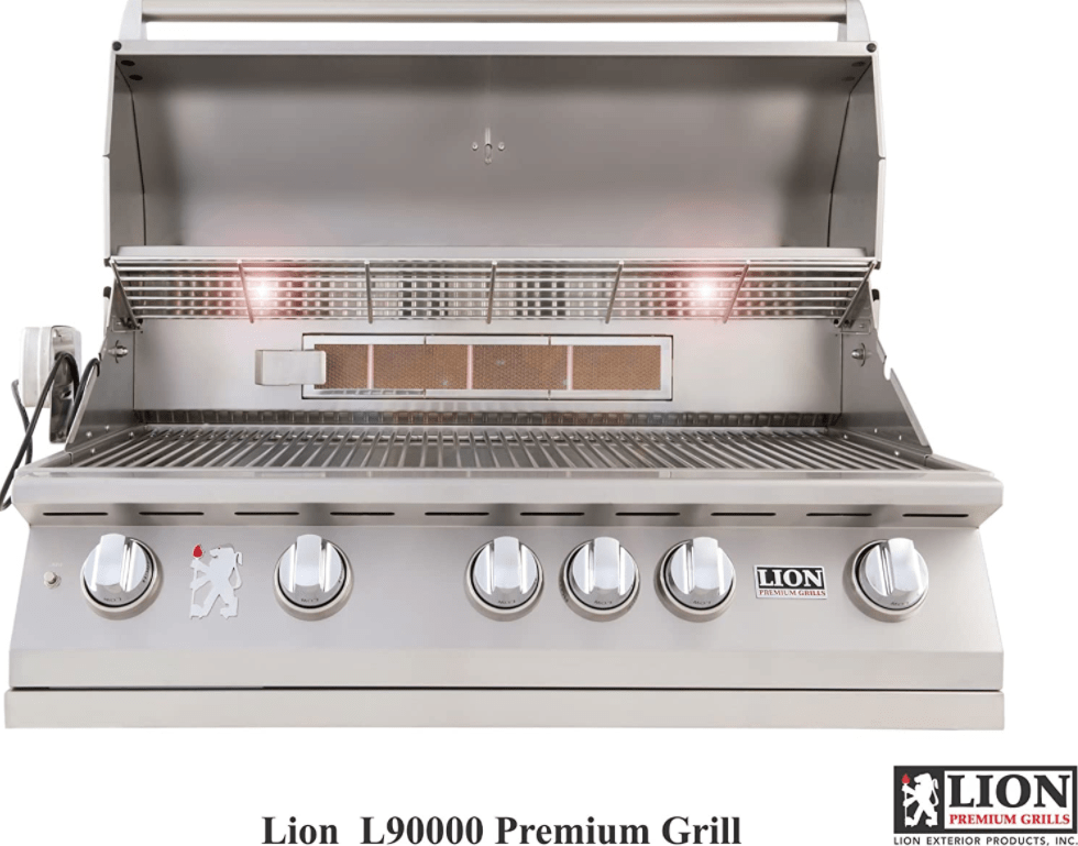 """Rotisserie Set Up of the the Lion Premium Grills L9000 40"""" Natural Gas Grill"""