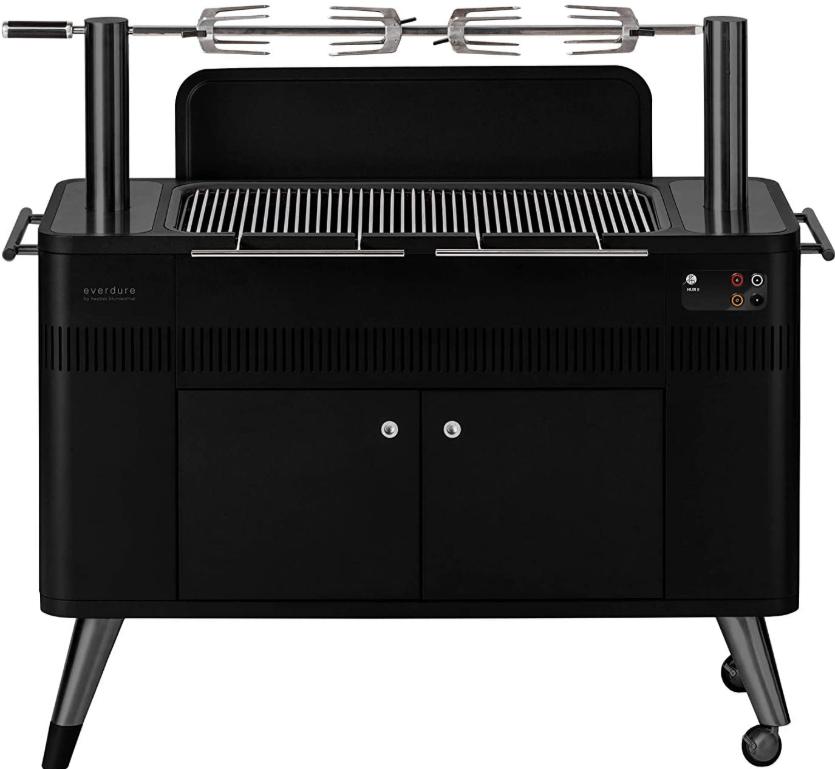 The Everdure HUB II 54-inch Charcoal Rotisserie Grill