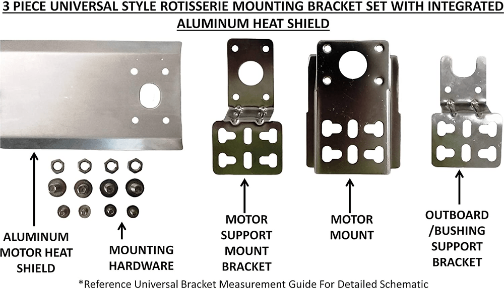Setting the the OneGrill Universal 37-inch Rod Complete Grill Rotisserie Kit with 13 Watt Motor