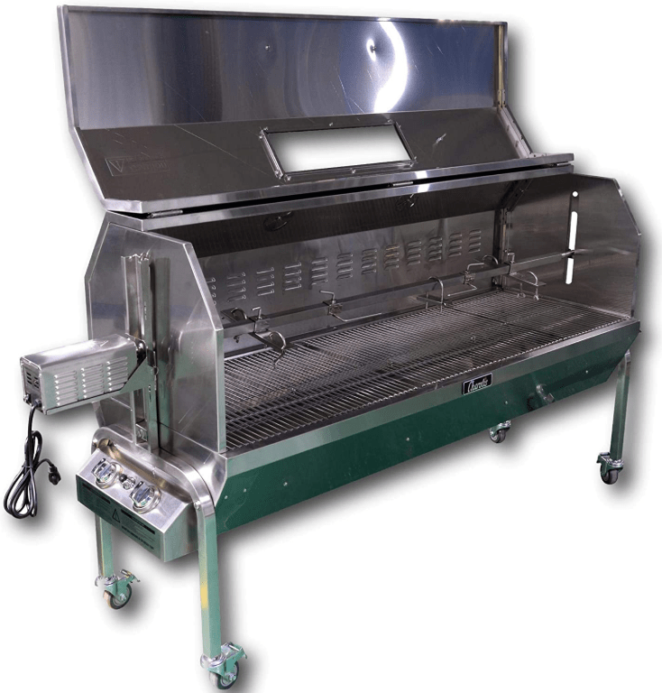 Stainless Steel Construction of the Charotis 52-inch SSGC1 Propane and Charcoal Rotisserie Grill