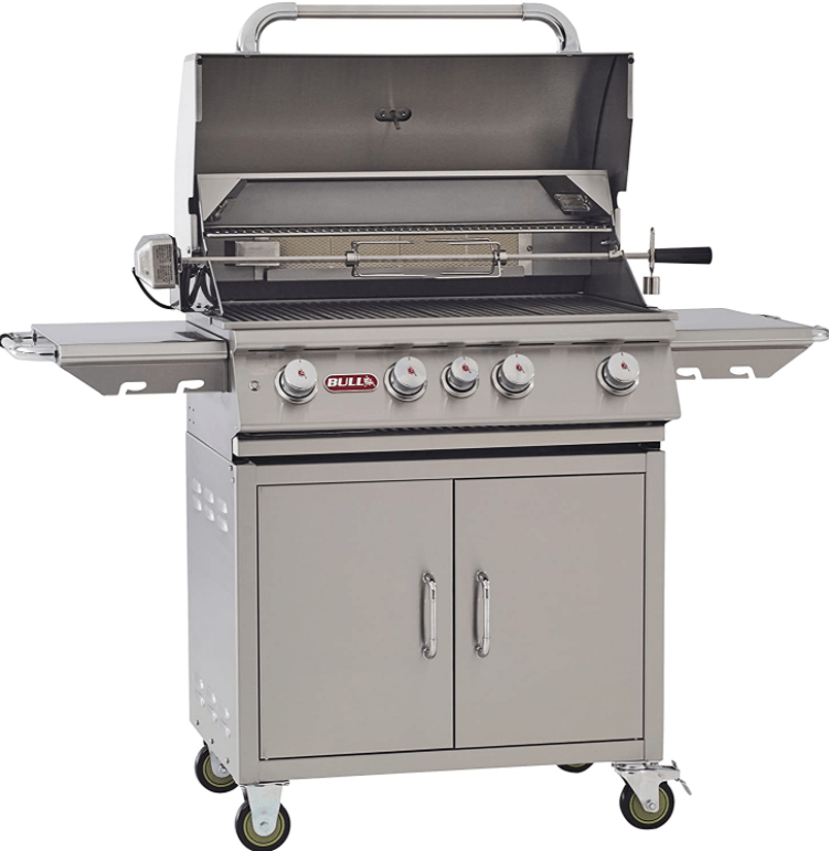 The Bull Outdoor Products BBQ 44001 Angus 75,000 BTU Grill with Cart with Rotisserie