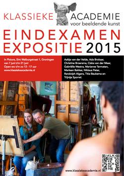 Eindexamen expositie in Pictura 2015