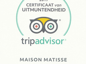 Awards Maison Matisse:  Thank you, Merci, Bedankt!!