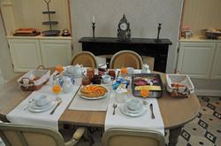 Ontbijt in de eetplaats ...