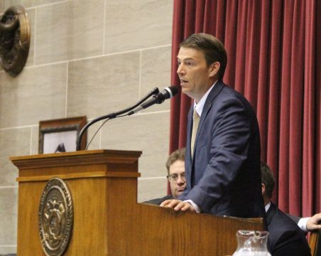 Speaker Todd Richardson speaks at the dais May 24, 2017 during special session. (Ben Peters/MISSOURI TIMES)
