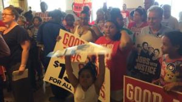 minimum wage rally - K.C.