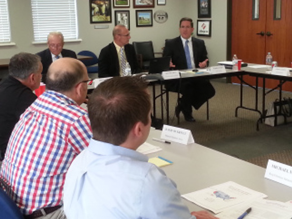 Warren Wood of Ameren Missouri addresses the lunch and learn group on Thursday 8/22