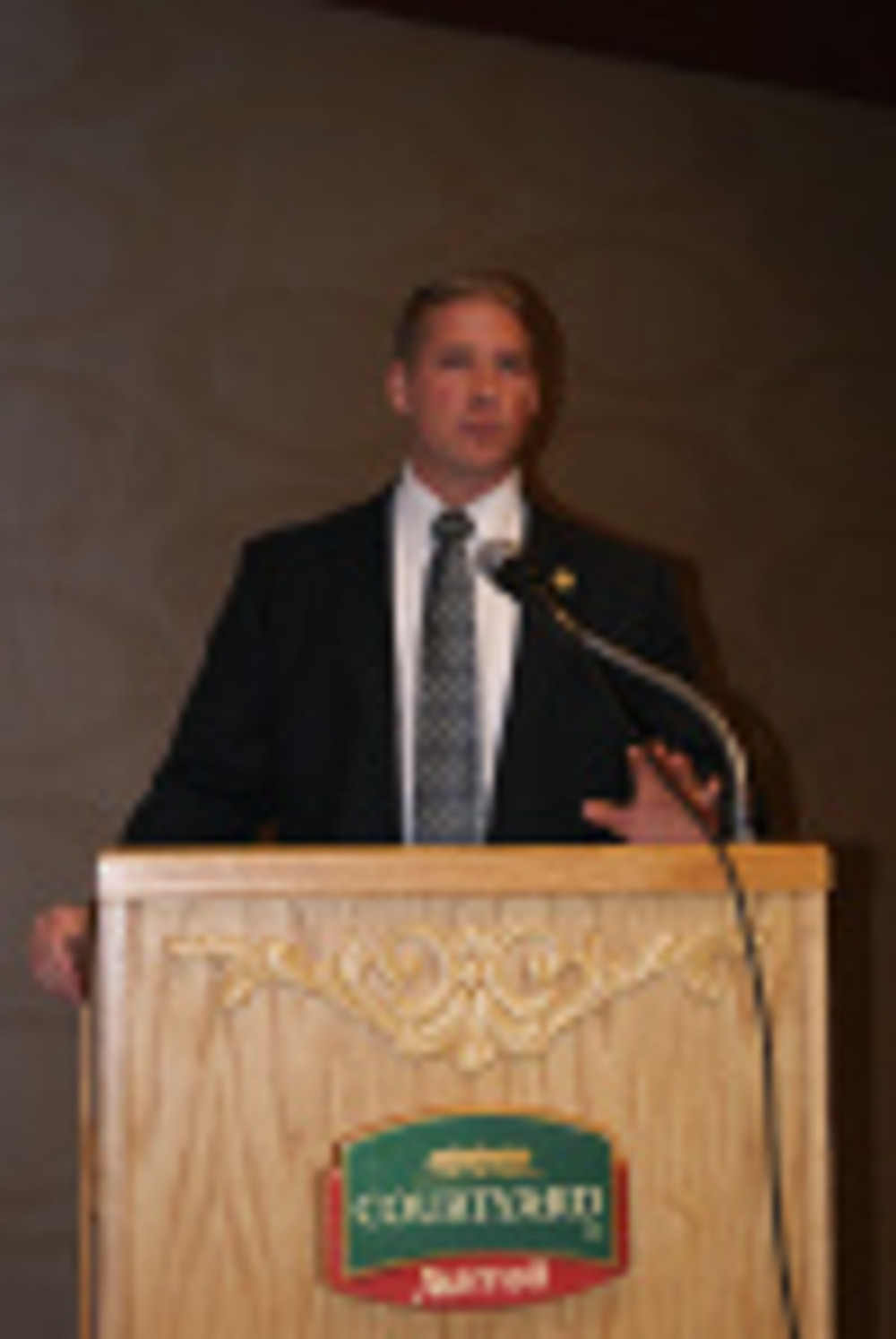 State Sen. Will Kraus addresses the AIM Tax & Business Conference Thursday October 17.