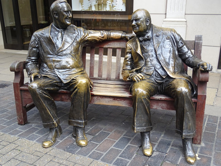 The 'Allies' - Winston Churchill and Franklin D Roosevelt having a chat!