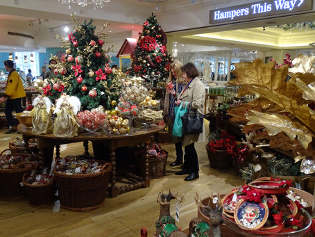 Then, the glitz and glamour of the first floor in Fortnum & Mason's