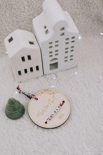 """Médaillon """" Mon 1er Noël"""" - 8 cm"""