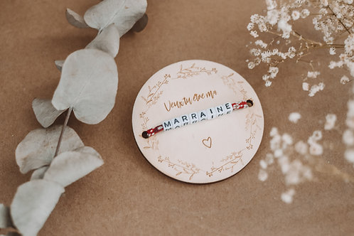 """Plaque """" Veux tu être ma """"+ Bracelet"""